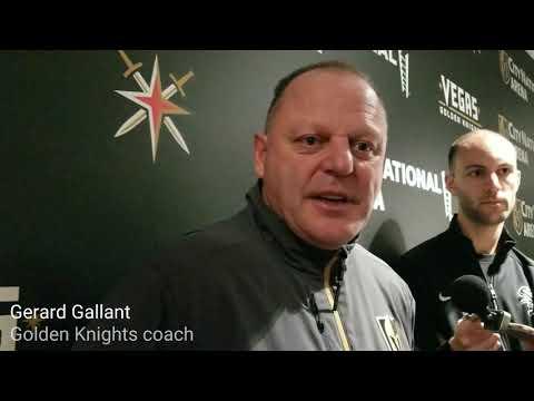 Golden Knights coach Gerard Gallant on defenseman Colin Miller