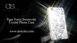 DSstyles Tiger Force Swarovski Crystal iPhone 4 4S Case Thumbnail