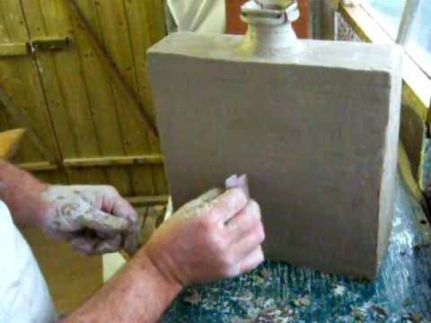 Pottery Slab Building Bottles Construction Method Youtube