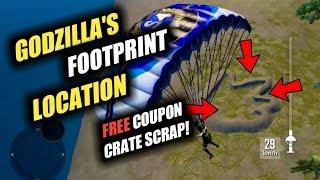 FREE COUPON CRATE SCRAP AT GODZILLA FOOTPRINT LOCATION
