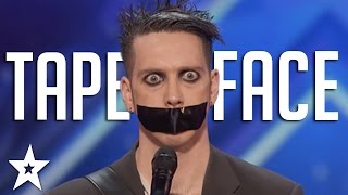 Tape Face Auditions And Performances  Americas Got Talent 2016 Finalist