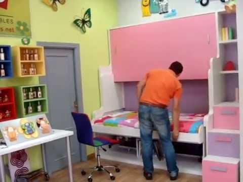 V deo explicativo funcionamiento litera convertible en - Habitaciones infantiles merkamueble ...