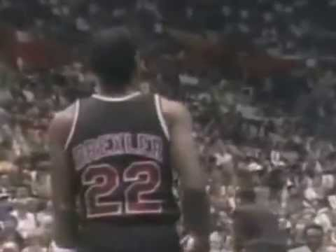 Clyde Drexler Dunks from the Free throw Line 1987