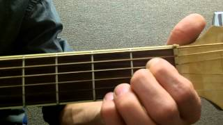 how to play an abm7 flat minor 7th on guitar