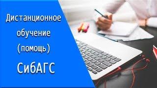 СибАГС: дистанционное обучение, личный кабинет, тесты