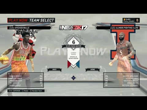 NBA 2K17 - Chicago Bulls vs Illinois Fighting Illini (FULL GAME)