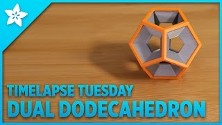 Dodecahedron Dual Extruded #3DPrinted #Timelapse Tuesday
