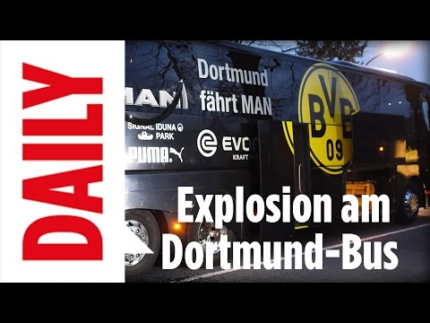 Explosion am BVB-Bus -  Borussia Dortmund vs AS Monaco abges
