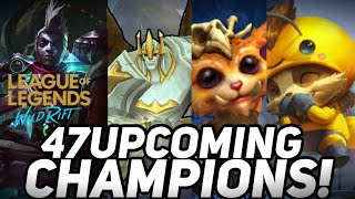 ALL UPCOMING CHAMPIONS ON WILD RIFT ON NEXT UPDATE! POSSIBLE CHAMPION LIST IN LOL MOBILE WILD RIFT