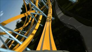 flying bronco no limits 2 single rail steel coaster