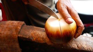 Indonesian Street Food - KNIFE SKILLS Jelly Diamond Fruit Indonesia