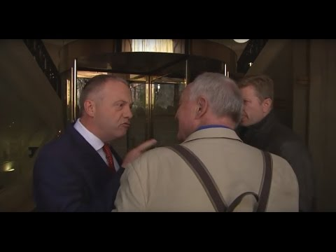 Labour MP John Mann screams at Ken Livingstone 'you're a disgusting racist'