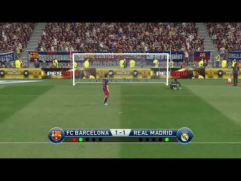 PES 2016 -FC Barcelona vs Real Madrid - Penalty Shootout