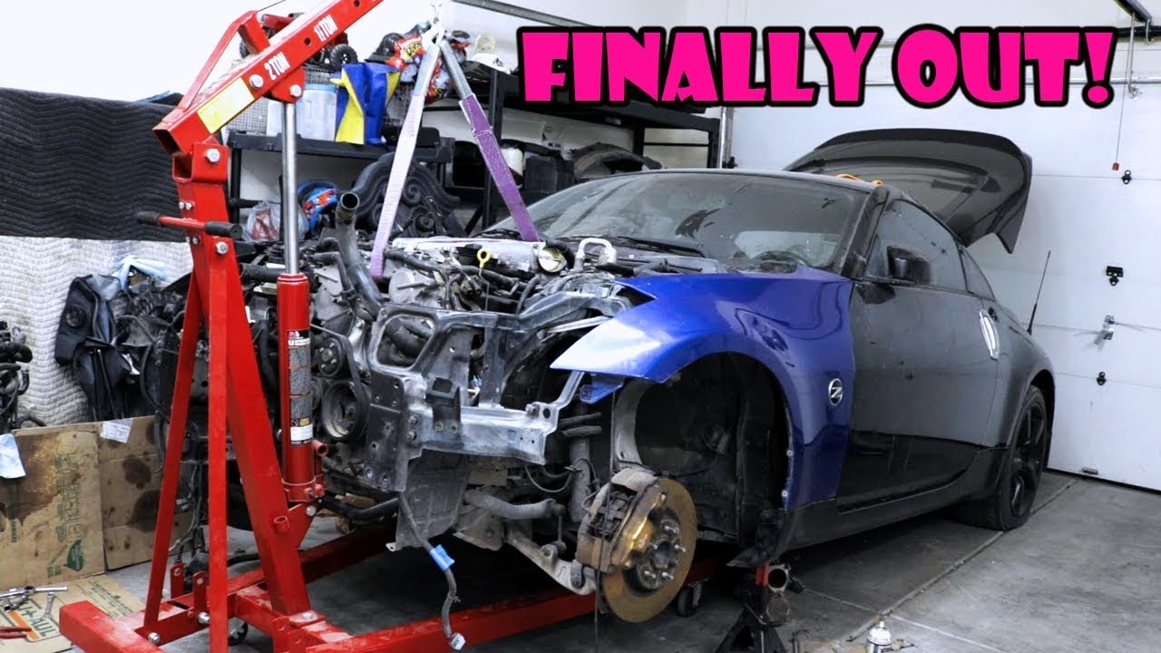 350z Engine Removal Without Transmission How To Super Easy