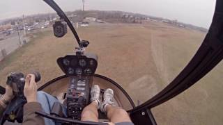 Private Helicopter Lands By Cracker Barrel l Cockpit View