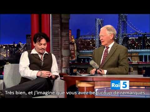 Johnny Depp on David Letterman (sous-titres français)