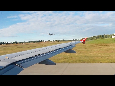 Air Berlin AB8245 A319 Oslo-Berlin Tegel Safety, Take-off, Inflight & Landing