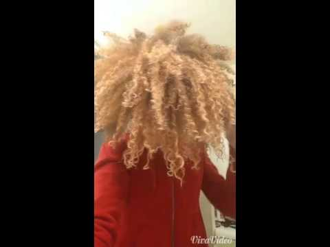 7 Stage Bleach Natural 4b Hair Results Youtube