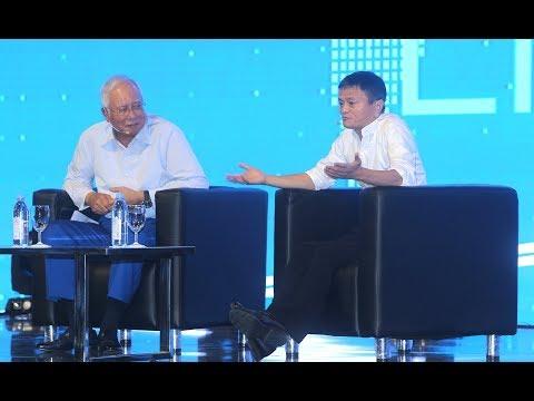 Jack Ma and PM at DFTZ dialogue