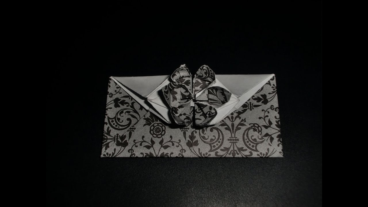 Origami Blume Als Umschlag Envelope Flower Tutorial Hd Youtube