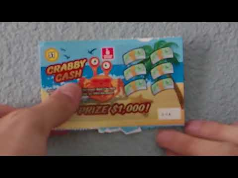5x $1 Crabby Cash Oregon Lottery Scratch-offs