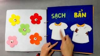 SÁCH VẢI SIZE TO / SÁCH VẢI DẠY KỸ NĂNG / QUIET BOOK BIG SIZE / QUIET BOOK GHES HANDMADE