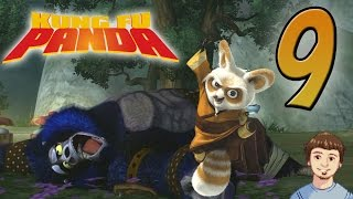 Kung Fu Panda The Video Game Walkthrough - PART 9 - Master Shifu Gameplay + Great Gorilla Boss!