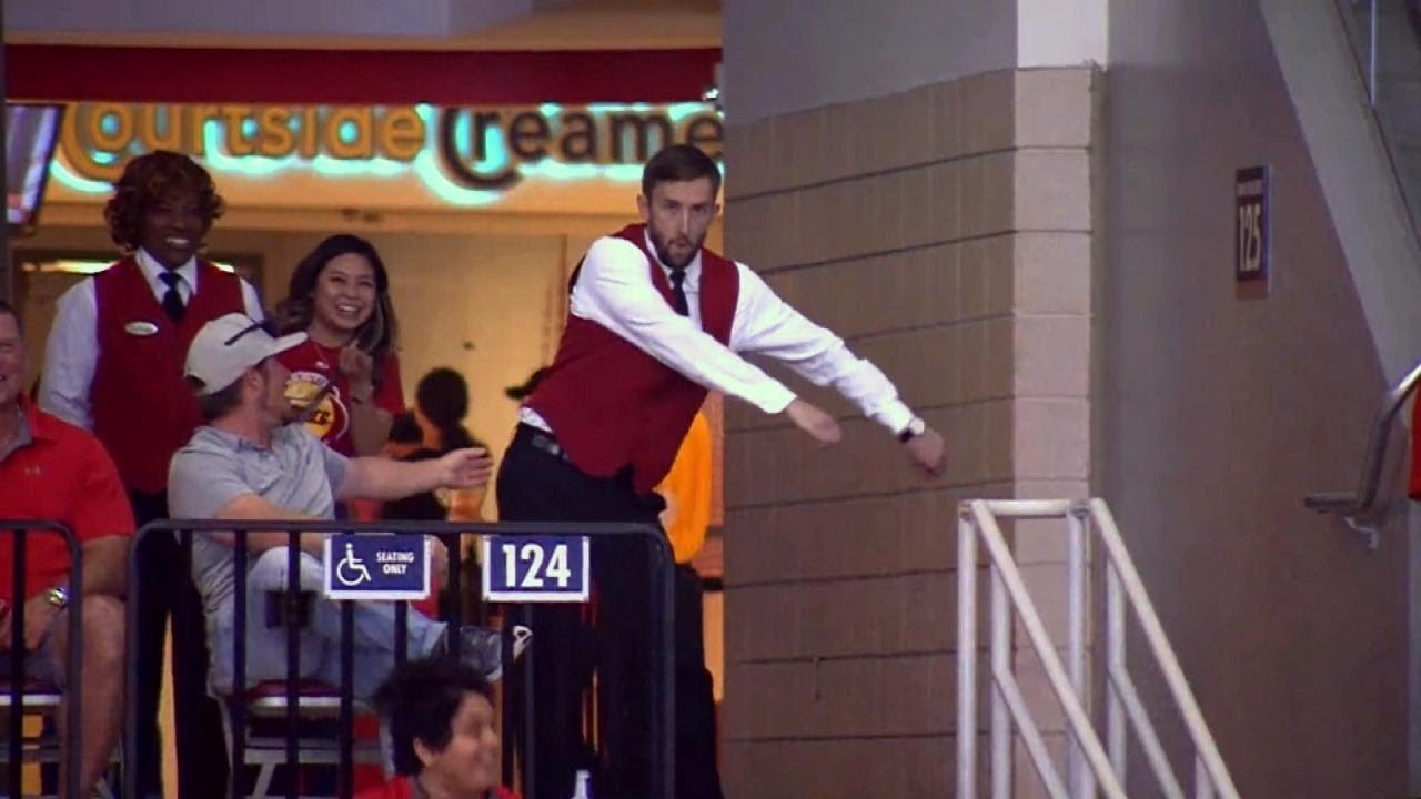 Watch NBA Usher Break It Down in Stands During Houston Rockets Game