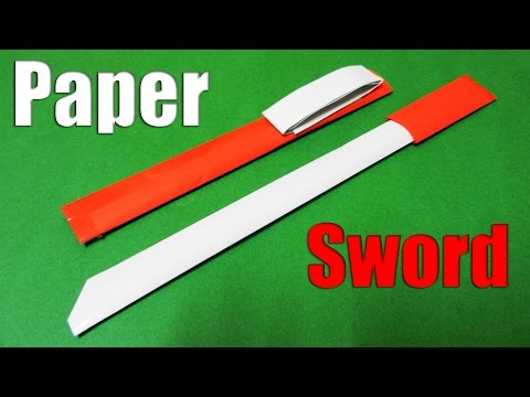 How to make a Paper Sword | Easy Paper Sword | Tutorial