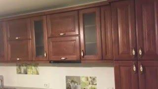 Стандартная кухня. Фасады ясень. Низкий подоконник.(furniture,cabinet).(, 2016-02-21T18:07:21.000Z)