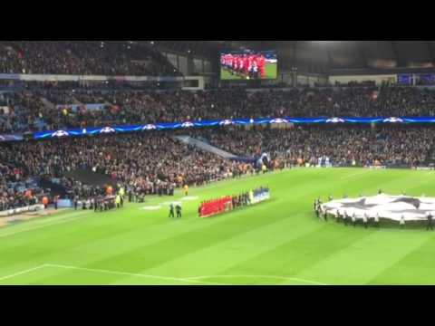 champions league : manchester city- as monaco from visitor park