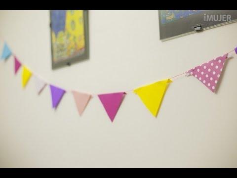 Cómo Hacer Banderines Para Cumpleaños