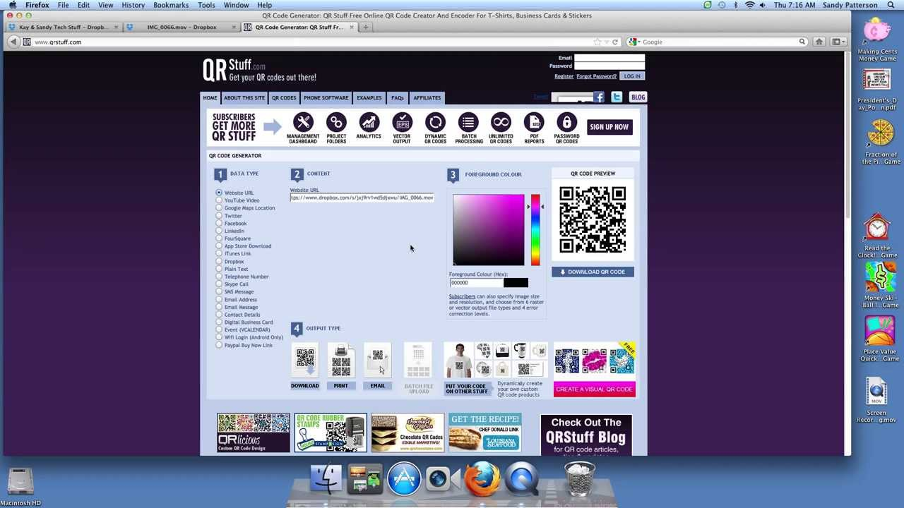 How to Link QR Codes to Dropbox Files - YouTube