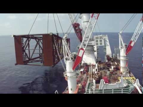 OSA Goliath heavy lift vessel .AVI
