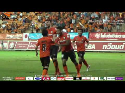 Goals Highlight [Toyota Thai League 2016] Chiangrai United 3-1 Sisaket FC : 18 June 2016