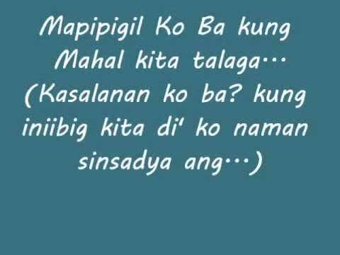Kasalanan Ko Ba? - Toni Gonzaga (Lyrics)