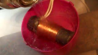 Electromagnet in Liquid Nitrogen