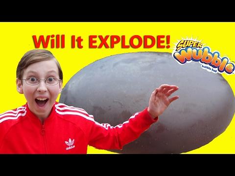 WUBBLE BUBBLE EXPLOSION!! CHOCOLATE PUDDING EXPERIMENT | COLLINTV