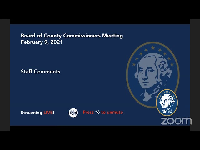 Washington County Board of Commissioner's Meeting 02/09/2021