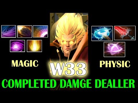 w33 God Invoker Magical + Physical DMG - Absolute Carry Dota 2