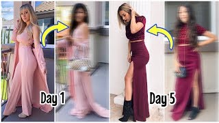 Trying On My Mom's Outfits For A week | Txunamy