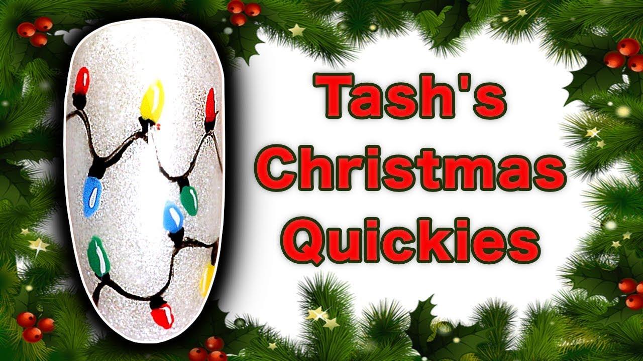 How To Paint Fairy Lights Nail Art Tutorial Tash S Christmas