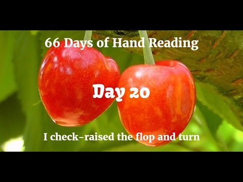 I call in the BB, then check-raise flop and turn :-: Hand Reading Day 20 of 66