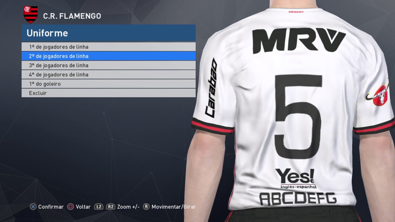 cd2024ac7a Uniforme Flamengo 17-18 PES 2017 PS4 - YouTube