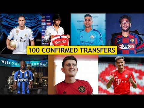 TOP 100 CONFIRMED SUMMER TRANSFERS 2019 ft. Lukaku, Coutinho, Neymar |HD