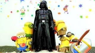 Видео для детей: игрушки Миньоны ищут покровителей