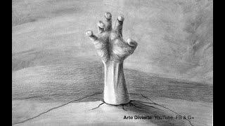 Cómo dibujar una mano zombie en 3D - Día de Muertos - Narrado