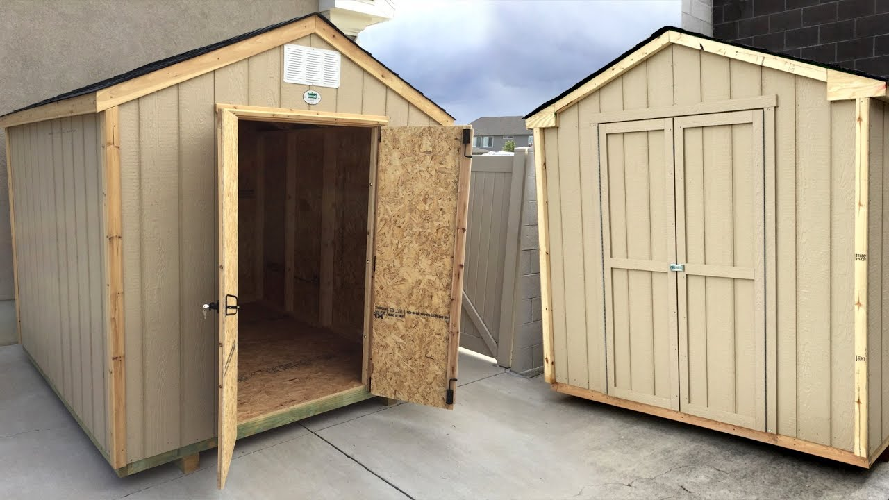 building a pre cut wood shed side by side review backyard