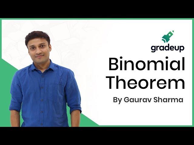 Binomial Theorem by Gaurav Sir | Live Class | Mathematics | JEE Main 2019 January