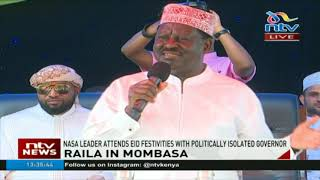 Nasa leader Raila Odinga attends Eid festivities with politically isolated governor Hassan Joho